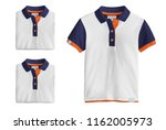 polo t shirt mockup  folded and ... | Shutterstock . vector #1162005973