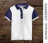 polo t shirt mockup  front view ... | Shutterstock . vector #1162005976