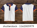 polo t shirt mockup  front and... | Shutterstock . vector #1162005979