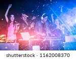 night club dj party people... | Shutterstock . vector #1162008370