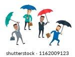 businessmen with umbrella on...   Shutterstock .eps vector #1162009123