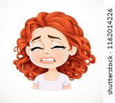 beautiful inconsolably crying... | Shutterstock .eps vector #1162014226