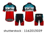 cycling jerseys mockup t shirt... | Shutterstock .eps vector #1162015039