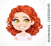 beautiful joyfully smiling... | Shutterstock .eps vector #1162016140