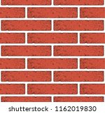 ancient red brick wall texture  ... | Shutterstock .eps vector #1162019830