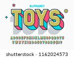 comic 3d display font design ... | Shutterstock .eps vector #1162024573