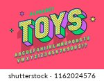 comic 3d display font design ... | Shutterstock .eps vector #1162024576