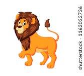 cute lion king cartoon vector... | Shutterstock .eps vector #1162032736