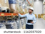 logistic business  shipment and ... | Shutterstock . vector #1162037020