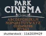 vintage font handcrafted vector ... | Shutterstock .eps vector #1162039429