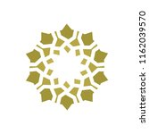 beautiful symmetrical mandala.... | Shutterstock .eps vector #1162039570