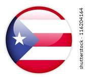 puerto rico flag button on white | Shutterstock .eps vector #116204164