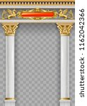 golden luxury classic arch with ... | Shutterstock .eps vector #1162042366