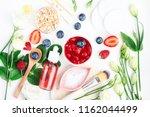 different bright set skin care ... | Shutterstock . vector #1162044499