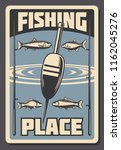 fishing place advertisement... | Shutterstock .eps vector #1162045276