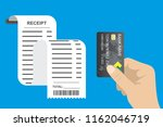 receipt bill paper invoice and... | Shutterstock .eps vector #1162046719
