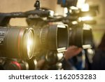 close up of the camera lens on... | Shutterstock . vector #1162053283