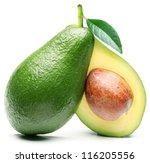 Avocado With Avocado Leaf...