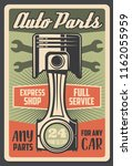 car service and auto spare... | Shutterstock .eps vector #1162055959
