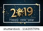blue 2019 happy new year... | Shutterstock .eps vector #1162057096