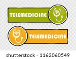 telemedicine buttons square and ... | Shutterstock .eps vector #1162060549