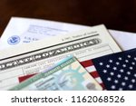 permanent resident green card | Shutterstock . vector #1162068526