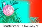 contrast design tropical palm... | Shutterstock .eps vector #1162068979