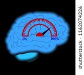 activity of a human brain... | Shutterstock .eps vector #1162074226