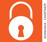 padlock icon  stock vector... | Shutterstock .eps vector #1162076629