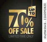 70 percent off sale discount... | Shutterstock .eps vector #1162092820