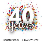 forty years anniversary with... | Shutterstock .eps vector #1162094899
