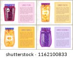 canned plums  and blueberries ... | Shutterstock .eps vector #1162100833