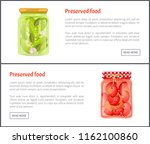 preserved food banners ... | Shutterstock .eps vector #1162100860