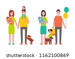family parenthood childhood... | Shutterstock .eps vector #1162100869