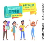 exclusive offer and premium... | Shutterstock .eps vector #1162101820