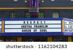 markee sign in honor of the... | Shutterstock . vector #1162104283