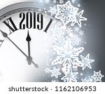 grey shiny 2019 new year... | Shutterstock .eps vector #1162106953