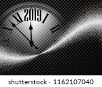 black and silver shiny 2019 new ... | Shutterstock .eps vector #1162107040