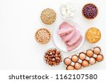 healthy food. products rich... | Shutterstock . vector #1162107580