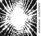 grunge halftone black and white ... | Shutterstock . vector #1162109653