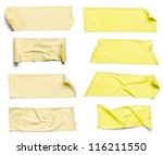 collection of  various adhesive ... | Shutterstock . vector #116211550