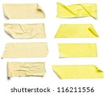 collection of  various adhesive ... | Shutterstock . vector #116211556