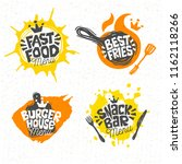 fast food  burger house  best... | Shutterstock .eps vector #1162118266