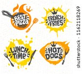 fast food  hot dogs  best pizza ... | Shutterstock .eps vector #1162118269