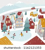 christmas  new year card for... | Shutterstock .eps vector #1162121353