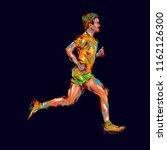 running marathon  people run ... | Shutterstock . vector #1162126300