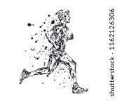 running marathon  people run ... | Shutterstock . vector #1162126306