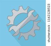 repair service icon. black cog... | Shutterstock . vector #1162128523
