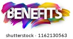white benefits poster with... | Shutterstock .eps vector #1162130563