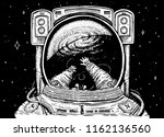 astronaut spaceman soaring.... | Shutterstock .eps vector #1162136560